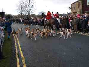 Holcombe Hunt At Dressers Arms Wheelton Chorley